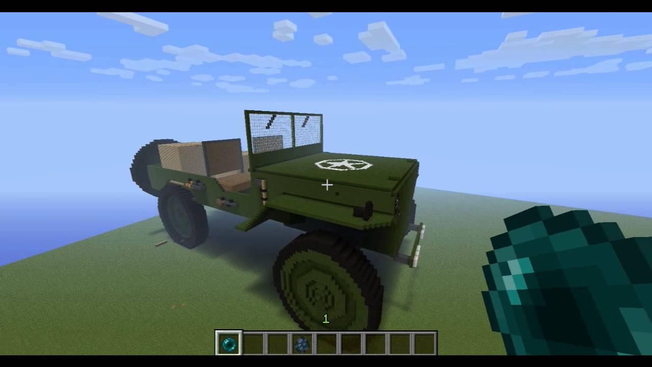 Huge Ww2 Jeep Minecraft Creations Youtube