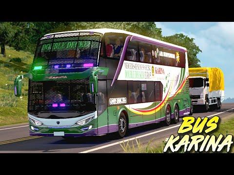 Ada yang Crash!!! BUS Karina Tingkat/Double Decker Antar Wisatawan- Euro Truck Simulator 2