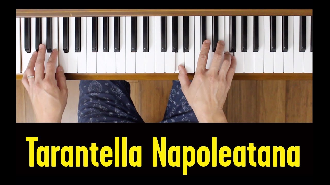 Tarantella Napoletana Easy Piano Tutorial