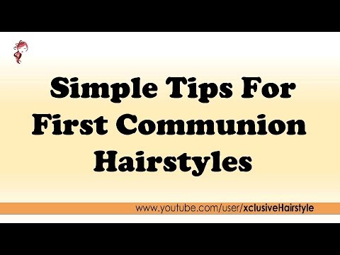 Simple Tips For First Communion Hairstyles  YouTube - Communion Hairstyles