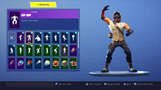 Fortnite all my skins and dances