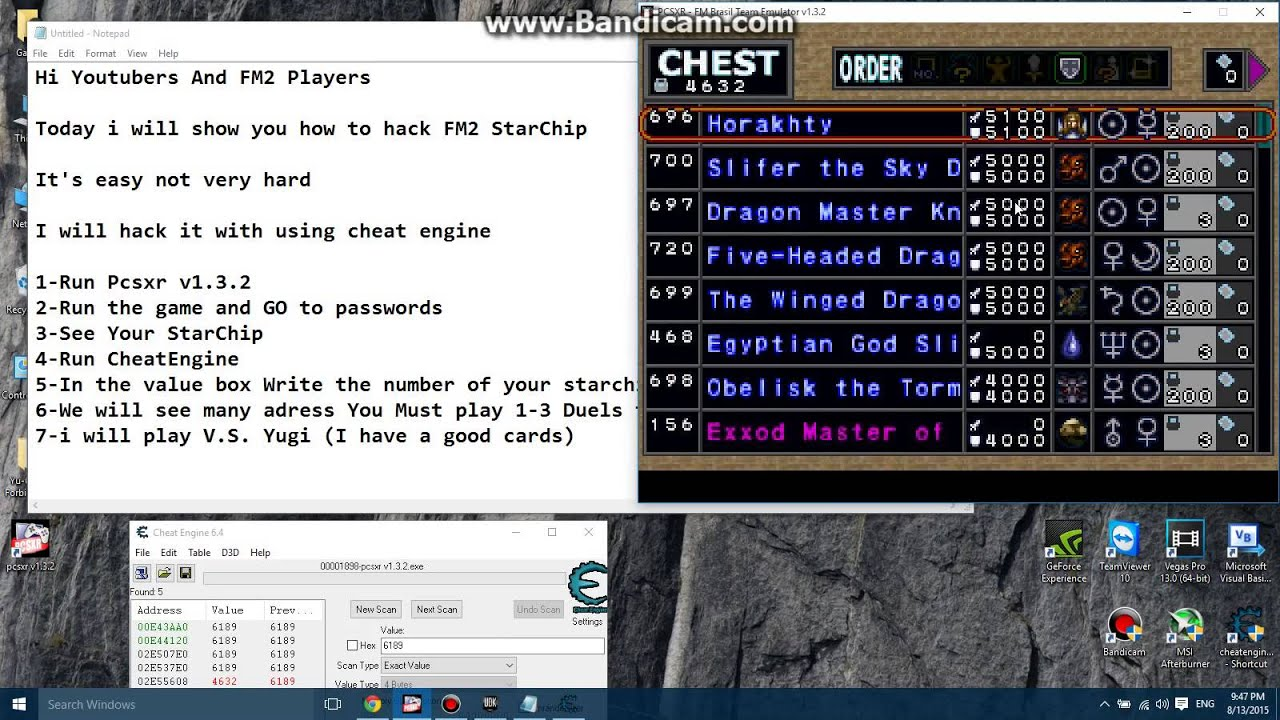 Yugioh Forbidden Memories 2 StarChip Hack