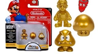 World of Nintendo Micro Land - Gold Series Mario, Super Mushroom, Goomba 1-3