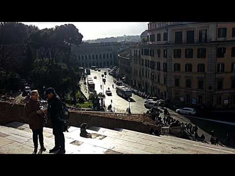 A View from the Capitoline Hill in Rome-Italy (February 2017)