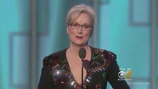Meryl Streep Speaks Out Against Donald Trump
