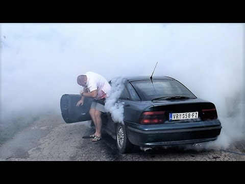 OPEL CALIBRA EXTREME BURNOUT