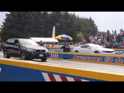 Camaro ZL1 vs BMW X5M 3er Jale | Arrancones Pegaso Febrero 2018
