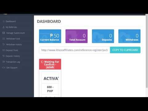 iBlast Affiliates - How To Register Account