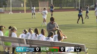 CTN SPORTS 2016 - Skyline @ Huron High School Women's Soccer May 24th