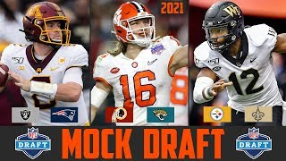2021 NFL Mock Draft | NFL Mock Draft 2021 Trevor Lawrence Justin Fields Ja'Marr Chase