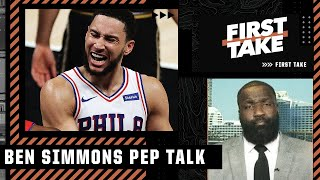 Kendrick Perkins gives Ben Simmons a pep talk ahead of Game 6 vs. Hawks   First Take
