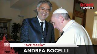 """Andrea Bocelli interpreta el """"Ave María"""" de Bach en el Vaticano"""