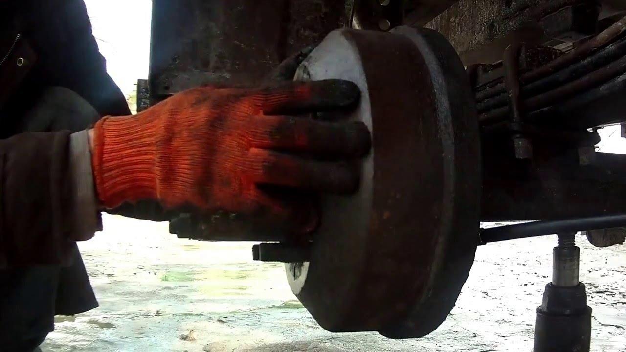 Установка троса ручного тормоза ГАЗель