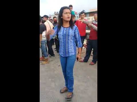 Girls  fighting  New  bus park in Kathmandu  - याैन धन्धामा