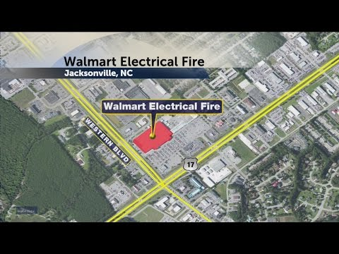 Electrical fire causes evacuation in Jacksonville Walmart