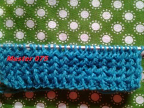 Bündchenmuster Muster 075*Stricken Lernen* Muster Für Pullover Strickjacke Mütze*Tutorial Handarbeit