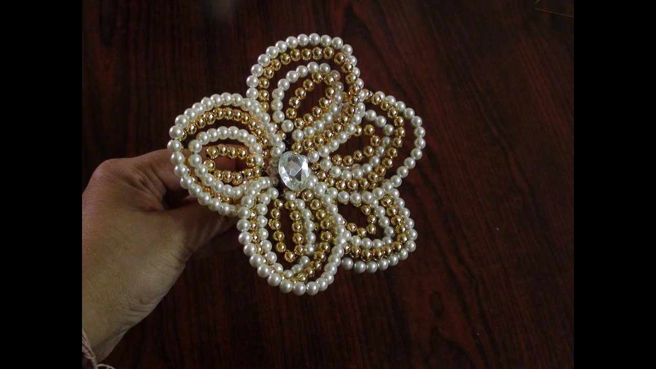 How to make a pearl flower youtube for Flower making at home