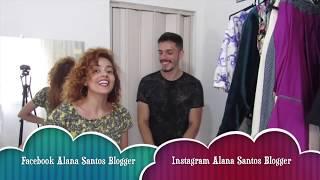 Cortando molde no tecido camisa masculina Alana Santos Blogger