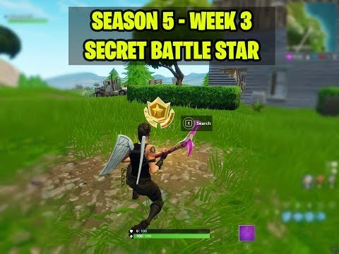 SECRET BATTLE STAR WEEK 3 SEASON 5 LOCATION! - Fortnite Battle Royale