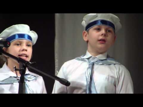 """хор. 3 """"В"""", школа №9 г. Бакала, первое выступление на сцене"""