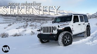 Jeep JL Wrangler Rubicon Off Road in the Snow : SERENITY