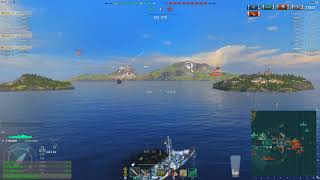 World of warships - Tier 10 DD action packed match