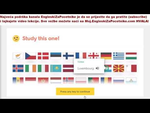 Vežbe izgovora i pisanja država na engleskom