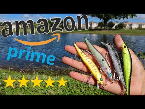 Amazon's Highest Rated Jerkbaits Catch Huge Fish!!