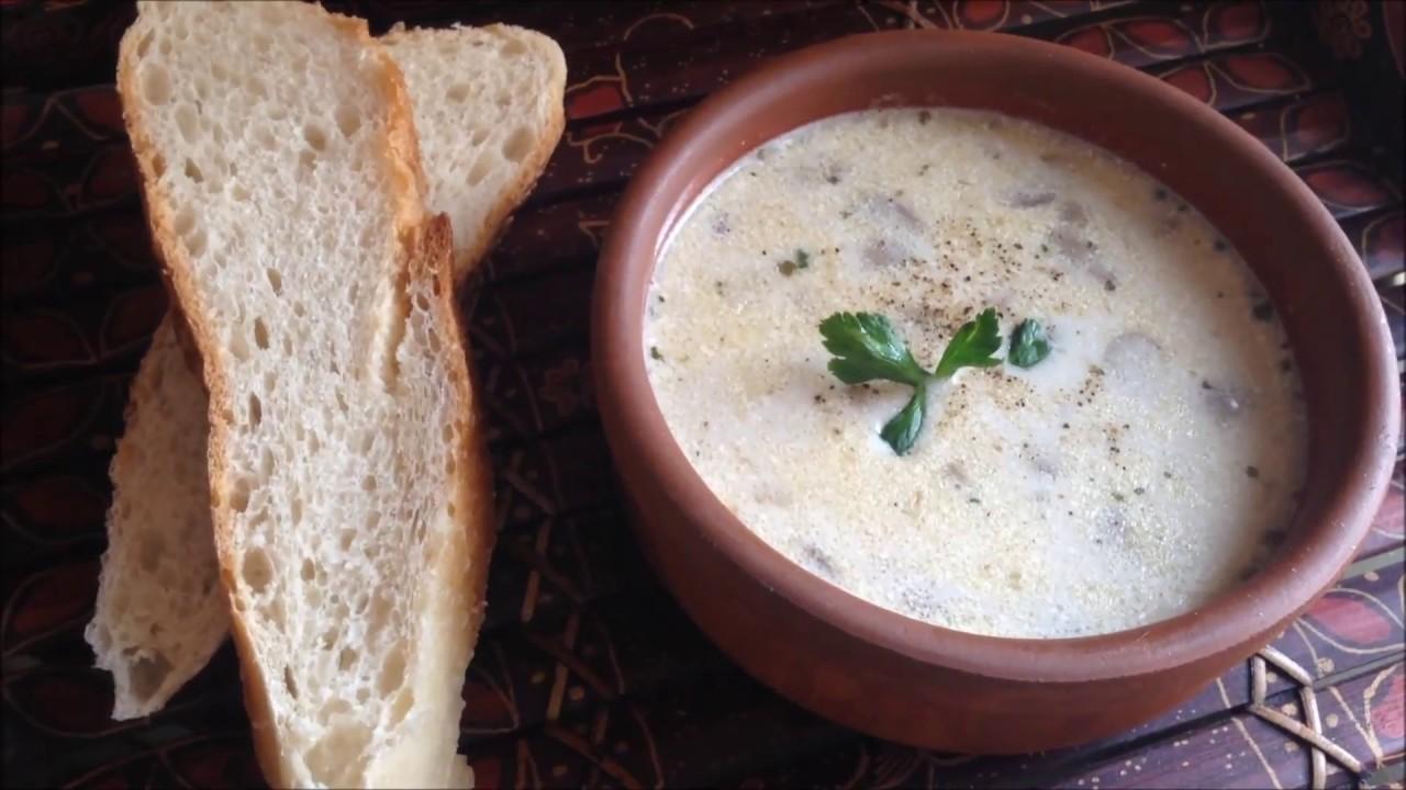 Creamy Mushroom Soup Recipe Resep Sup Krim Jamur Kremali Mantar Corbasi Tarifi Masakan Turki Youtube