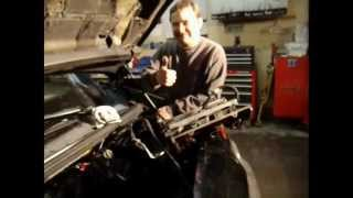 How To Change A Bad / Blown Head Gasket 3400 GM Overheats Thermostat Intake Manifold No Heat 3.4