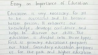 The importance of education essay writing best college paper writing service