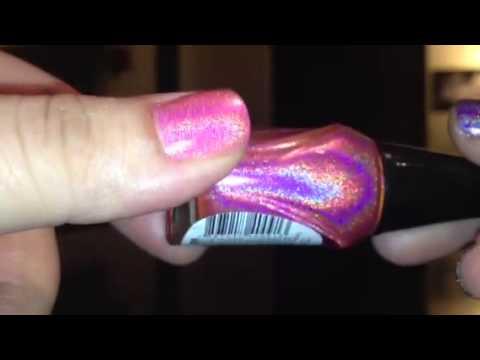 Jade Holografico Holographic Polish Swatches - YouTube
