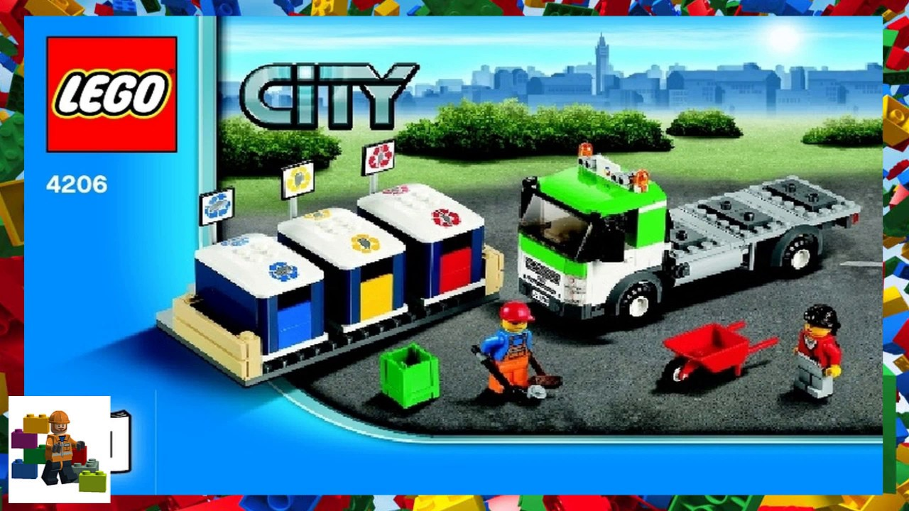 Lego Instructions City Traffic 4206 Recycling Truck Book 1