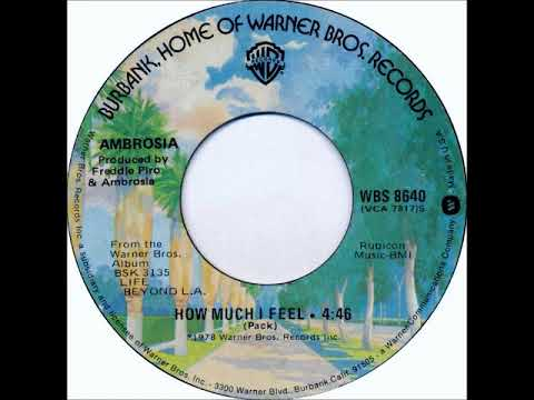 Ambrosia How Much I Feel 1978 Warner Brothers Records