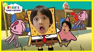 Ryan joue aventure Spongebob sur Roblox!