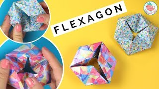 Origami Moving Flexagon Tutorial - How to Fold a Paper Flexagon - Easy Fidget Paper Toy