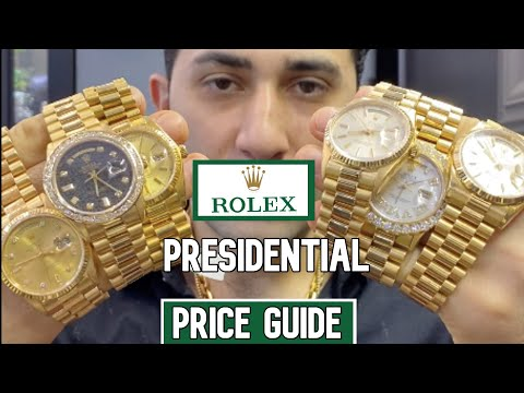PRICING GUIDE ROLEX PRESIDENTIAL !