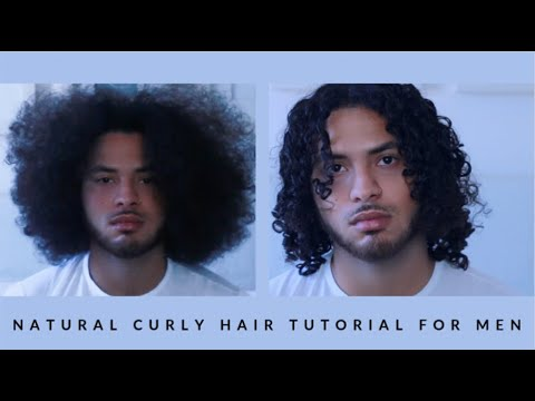Natural Curly Hair Tutorial For Men 3b Curls Youtube