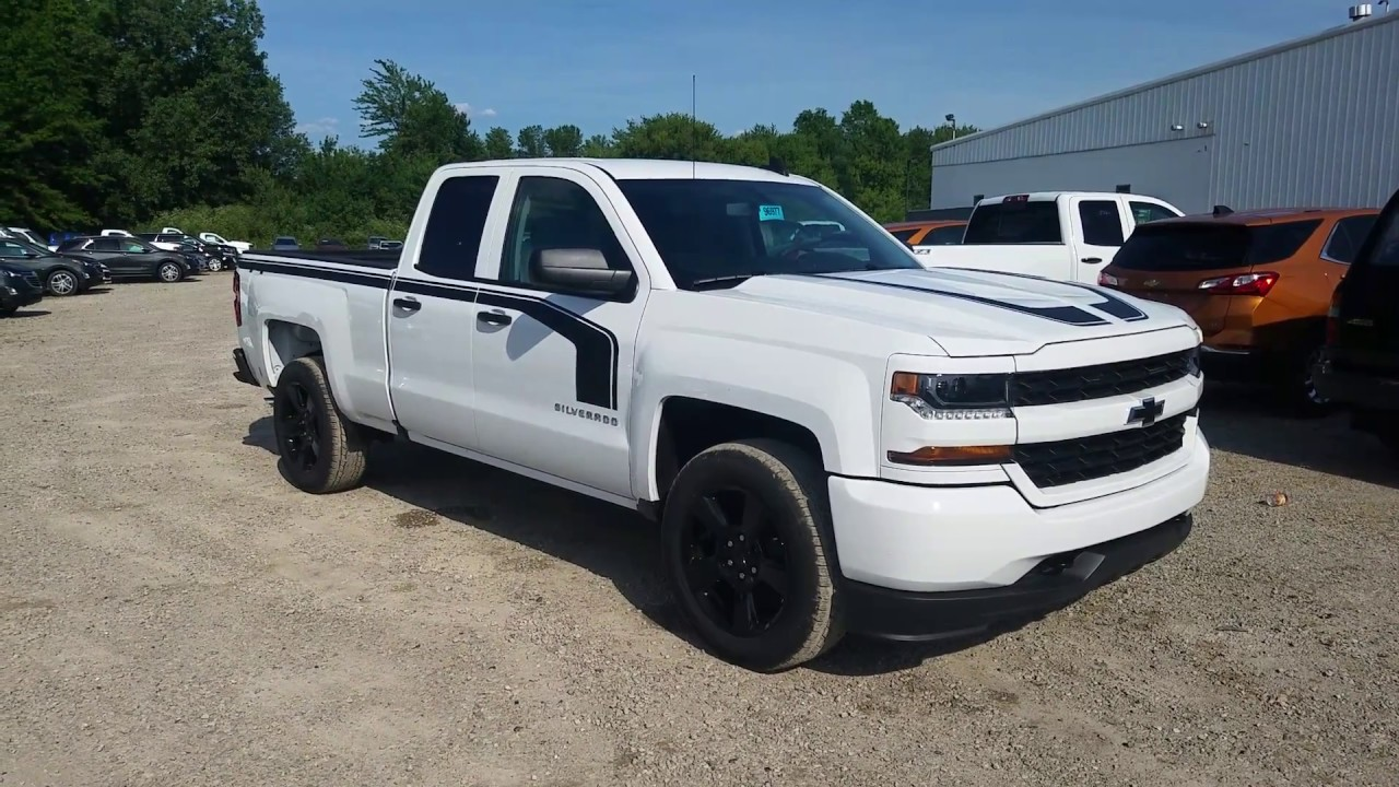 2017 Chevy Silverado 1500 Custom Rally 1 Edition Double Cab Summit White Full Review