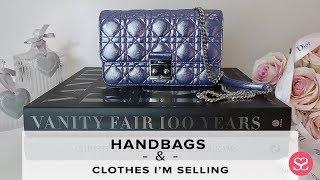 MY LIVE WARDROBE SALE! Chanel, Dior, Gucci, Kenzo and more!    Luxury Handbags   Sophie Shohet