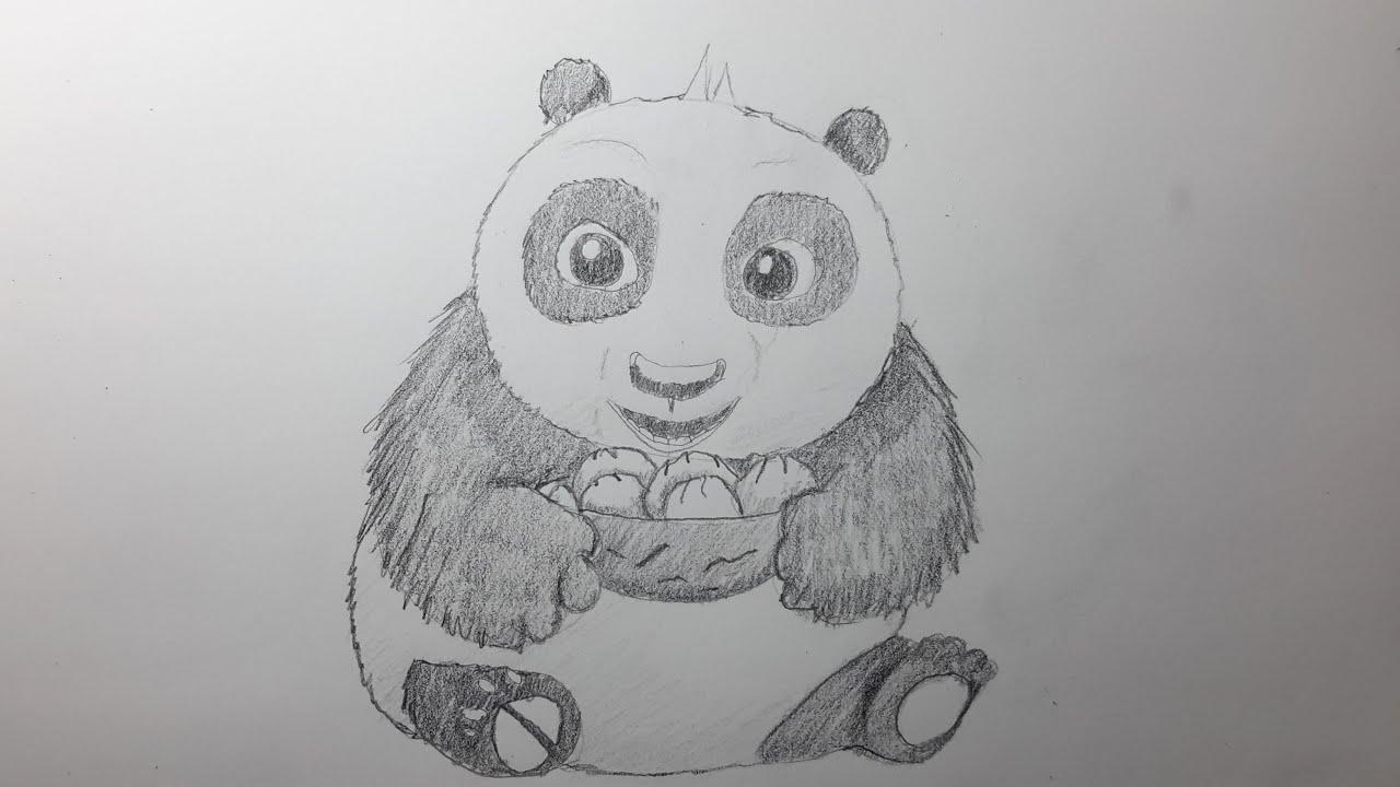 Como Dibujar a Kung Fu Panda [El Dibujante] - YouTube