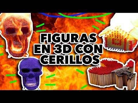 FIGURAS EN 3D CON CERILLOS. MAIRE VS EL INTERNET