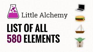 Little Alchemy CHECKLIST - AĮl 580 Items In Order