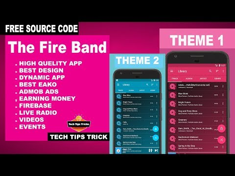 How To Create Music App | Free Source Code Android Studio App - Tech Tips Trick