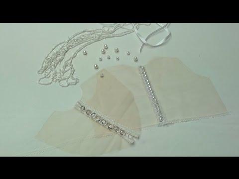 Застежка на воздушных петельках на спине из прозрачной эластичной сетки - 2