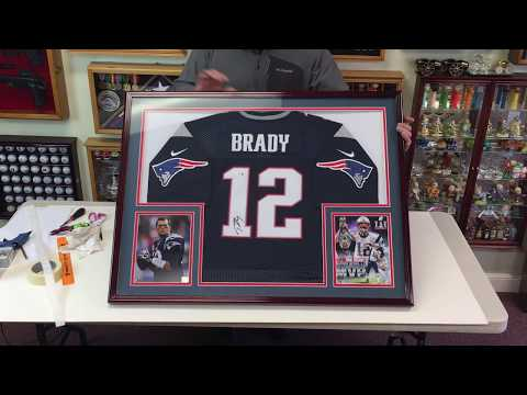 How to Professionally Frame a Football Jersey in a Sports Display Case