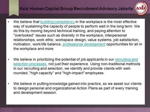 Axis Human Capital Group Recruitment Advisory Jakarta - Our Approach