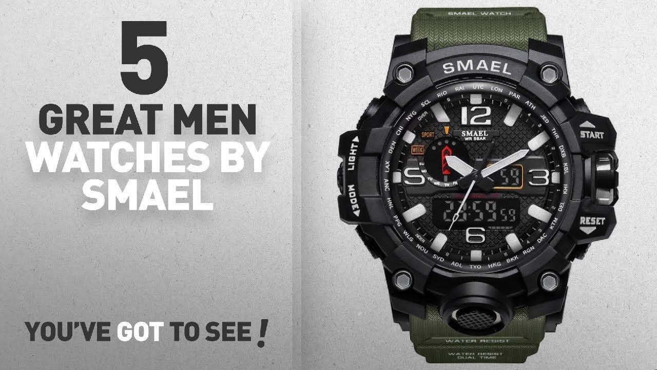 Top 10 Smael Men Watches   Winter 2018    SMAEL Men s Analog Digtal ... 7621507bf45