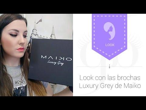Look con las nuevas Brochas Maiko Luxury Grey | AntesMuertaKSinRimel