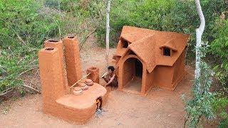 Update ! Build mud house and Make white wine use jack-fruit natural recipe | primitive builder life